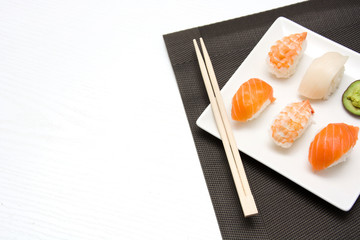 sushi, oriental food