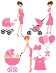 Mom to be in Pink