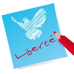 Liberte - Colombe de la paix