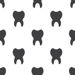 tooth, vector seamless pattern .