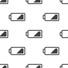 low battery, vector seamless pattern .