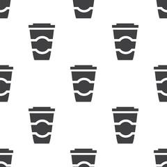 coffee, vector seamless pattern .
