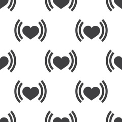 heart beat, vector seamless pattern .