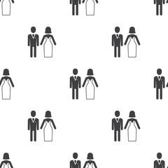 wedding, vector seamless pattern .