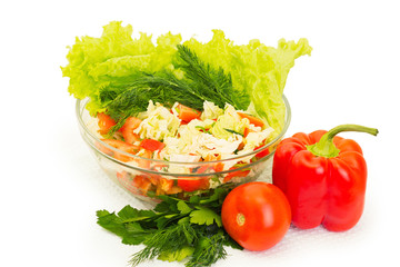 vegetables, dietary salad