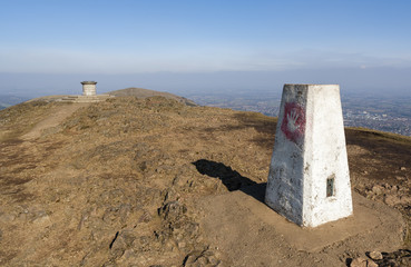 Trig Point and Toposcope on Worcestershire Beacon, Malvern Hills