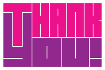 """""""Thank you"""" vector illustration"""