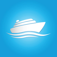 Cruise liner vector illustration