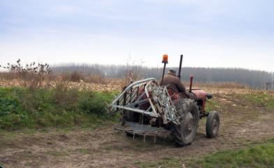 Farmer on a tractor