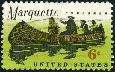 USA - CIRCA 1968: Father Marquette (1637-1675) and Louis Jolliet