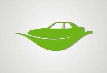 Car ecology logo vector