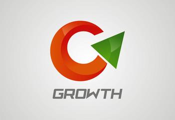 Growth logo icon vector