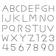 Alphabet fonts and numbers