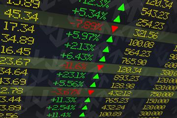 Stock exchange display panel