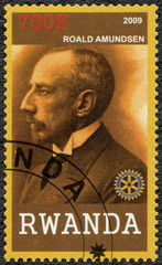 RWANDA - 2009: shows portrait of Roald Amundsen (1872-1928)