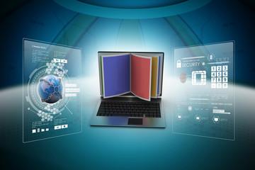 Online reading concept
