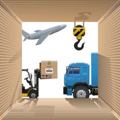 Vector Shipping Concept