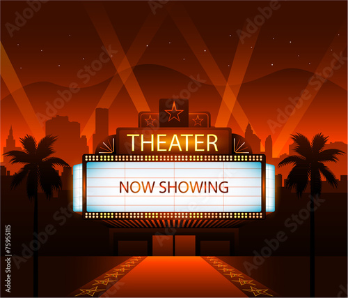 Now showing theater movie banner sign - 75955115