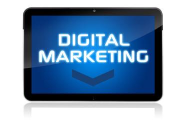 Tablet mit Digital Marketing