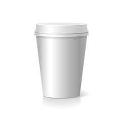 blank  Coffee drinking cup