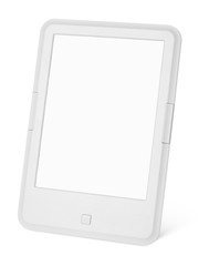 Portable e-book reader isolated on white