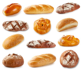 Set of photos with bakery products