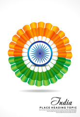 indian republic day background vector illustration
