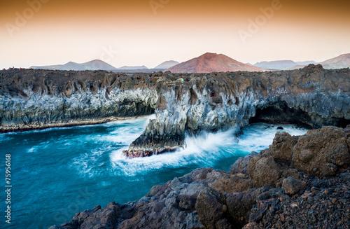 Leinwanddruck Bild Los Hervideros, Lanzarote