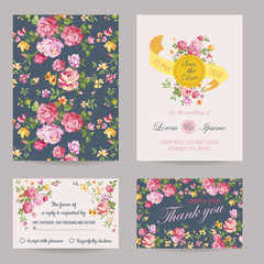 Invitation/Congratulation Card Set - for Wedding, Baby Shower