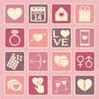 Zdjęcia na płótnie, fototapety, obrazy : love icon