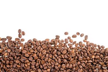 Kaffeebohnen mit Textfreiraum