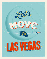 Vintage vacations poster - Let's move to Las Vegas..