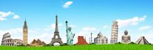 壁紙(ウォールミューラル) - Travel the world monuments concept