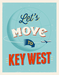 Vintage vacations poster - Let's move to Key West.