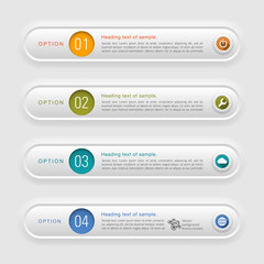 Infographic Banner & Label Design # Press Forming