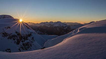Rays on the peaks