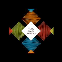 colorful kites with makar sankranti concept,