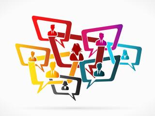 Communication illustration concept
