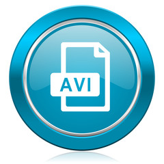 avi file blue icon