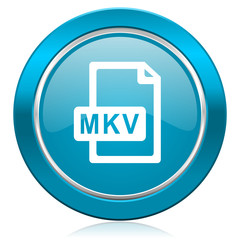 mkv file blue icon