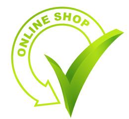 online shop symbol validated green