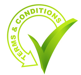 terms and conditions symbol validated green