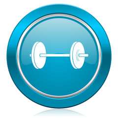 fitness blue icon