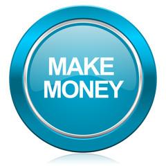 make money blue icon