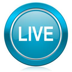 live blue icon
