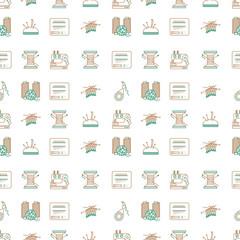 Bicolor line design background for sewing or handmade