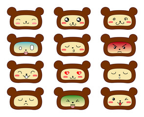 Bears emoticons.