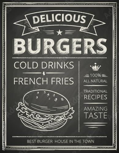 Fototapeta Burger poster