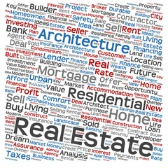 Conceptual real estate word cloud