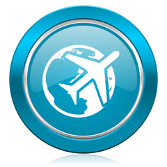 travel blue icon